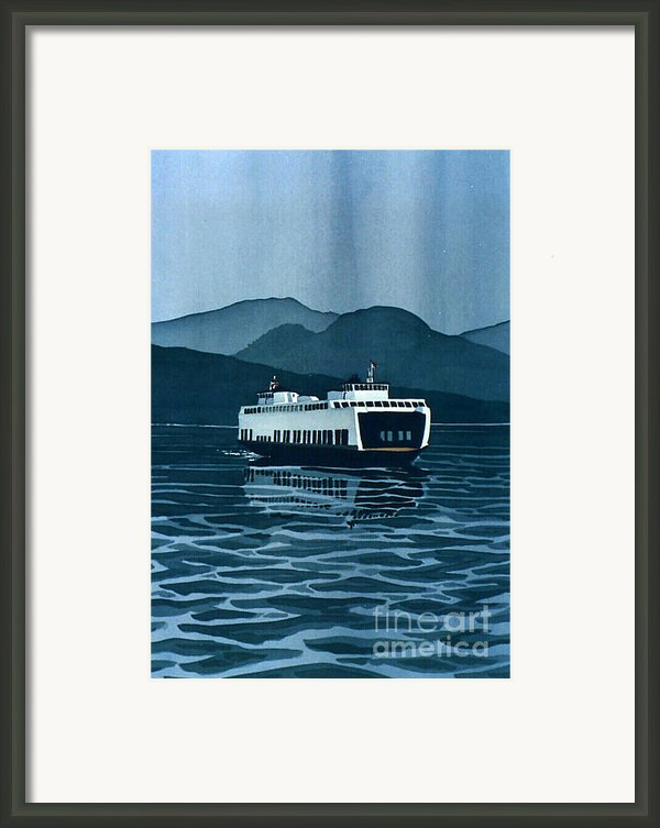 Rainy Ferry Framed Print By Scott Nelson