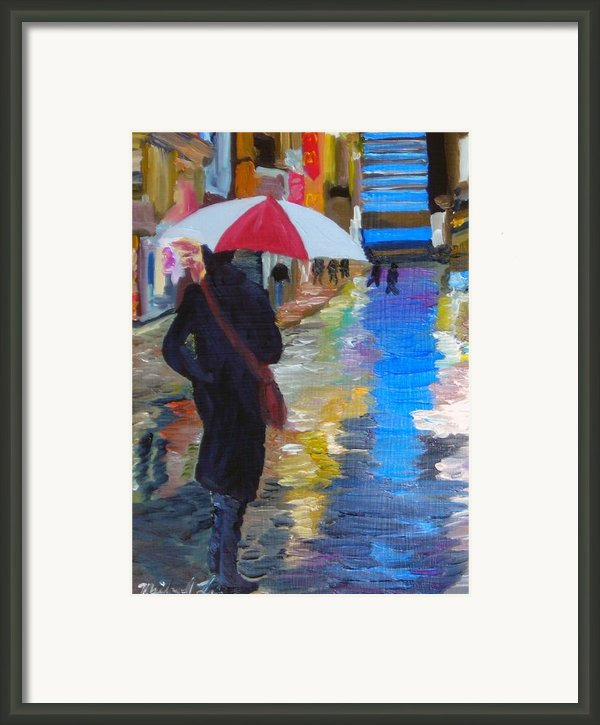 Rainy New York Framed Print By Michael Lee