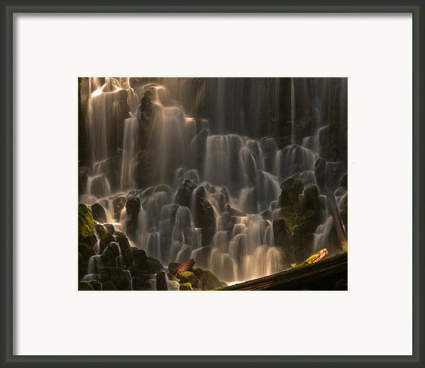 Ramona Falls  Framed Print By Ulrich Burkhalter