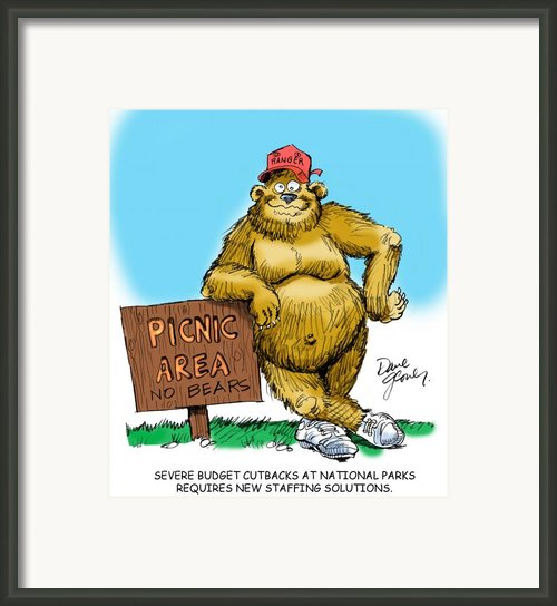 Ranger Bear Framed Print By David Lloyd Glover