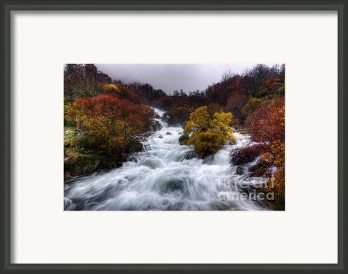 Rapid Waters Framed Print By Carlos Caetano