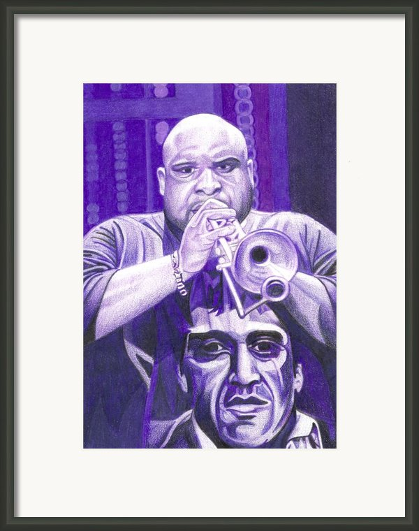 Rashawn Ross Framed Print By Joshua Morton