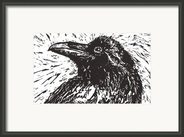 Raven Framed Print By Julia Forsyth