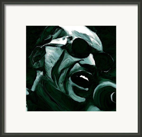Ray Charles Framed Print By Jeff Dottavio