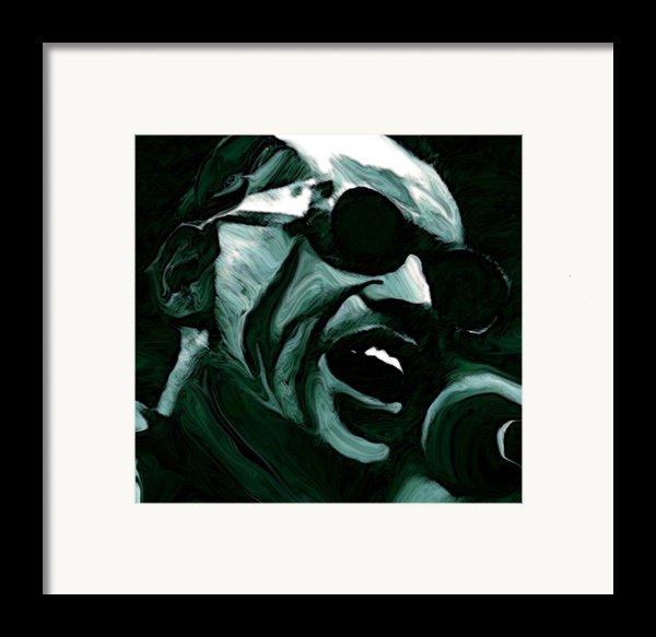 Ray Charles Framed Print By Jeff Dottavio