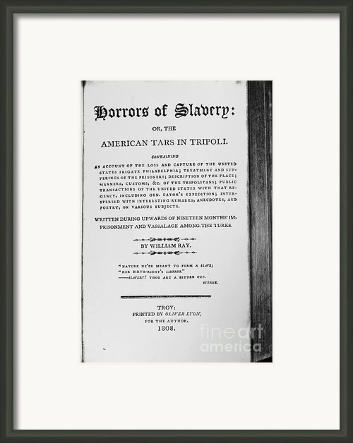 Ray: Horrors Of Slavery Framed Print By Granger