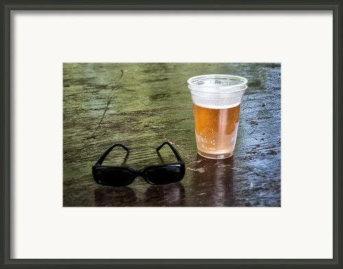 Raybans And A Beer Framed Print By Bill Cannon