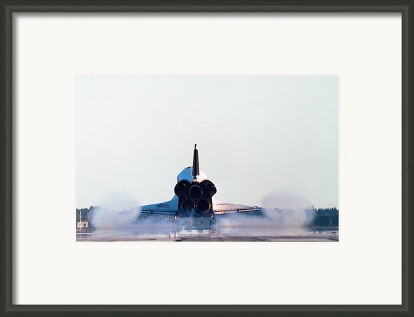 Rear View Of The Landing Of The Space Shuttle Framed Print By Stockbyte