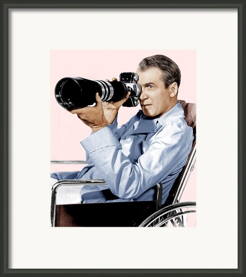 Rear Window, James Stewart, 1954 Framed Print By Everett