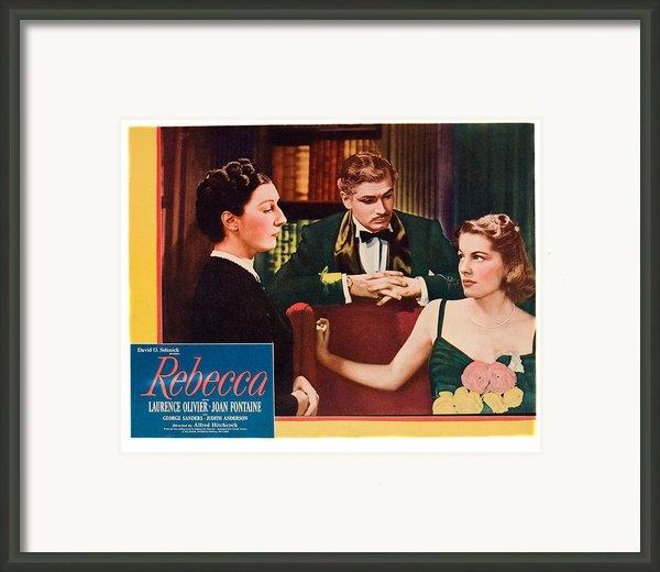 Rebecca, From Left Judith Anderson Framed Print By Everett