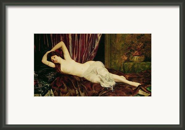 Reclining Nude Framed Print By Henri Fantin Latour