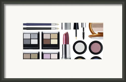 Rectangular Cosmetic Arrangement Framed Print By Adrianna Williams