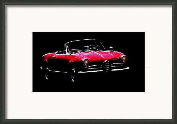 Red Alfa Romeo 1600 Giulia Spider Framed Print By Stefan Kuhn