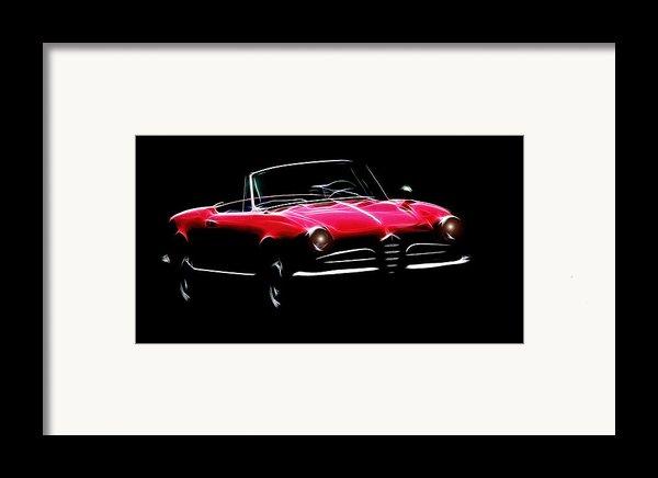 Red Alfa Romeo 1600 Giulia Spider Framed Print By Stefan Kuhn