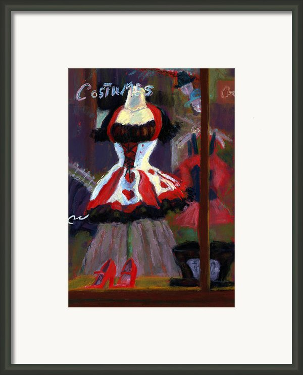 Red And Black Jester Costume Framed Print By Cheryl Whitehall