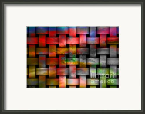 Red Basket Weave Abstract. Framed Print By Emilio Lovisa
