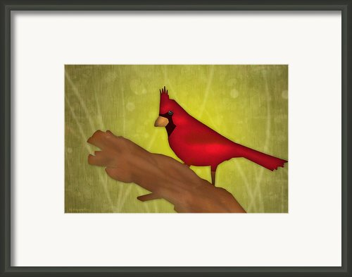 Red Bird Framed Print By Melisa Meyers
