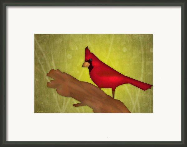 Red Bird Framed Print By Melisa Meyers