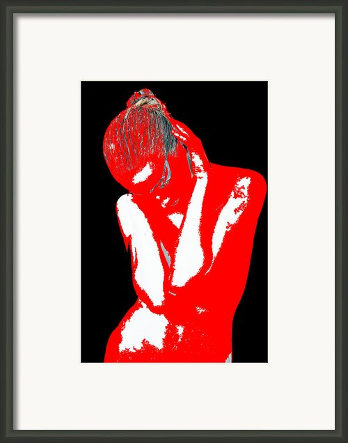 Red Black Drama Framed Print By Irina  March