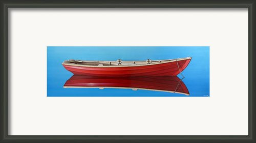 Red Boat Framed Print By Horacio Cardozo