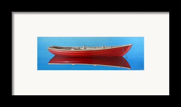Red Boat Framed Print By Horacio Cardozo