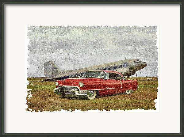 Red Cadillac Framed Print By Steven Agius