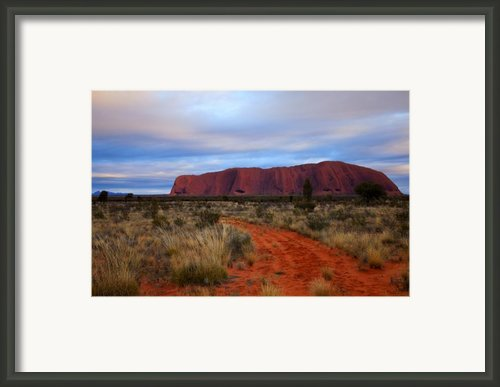 Red Center Dawn Framed Print By Mike  Dawson