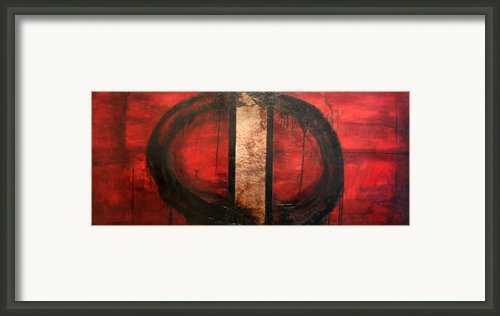 Red Circle Of Life Framed Print By Ellen Beauregard