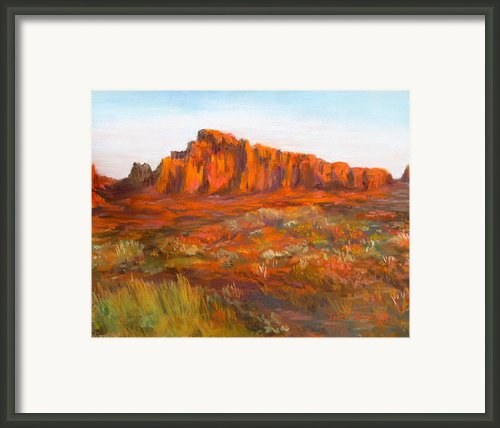 Red Cliffs Framed Print By Jack Skinner
