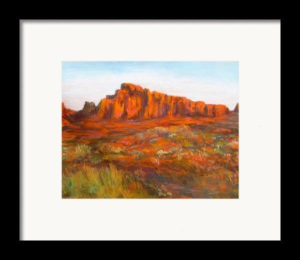 Red Cliffs Framed Print By Jack Skinner