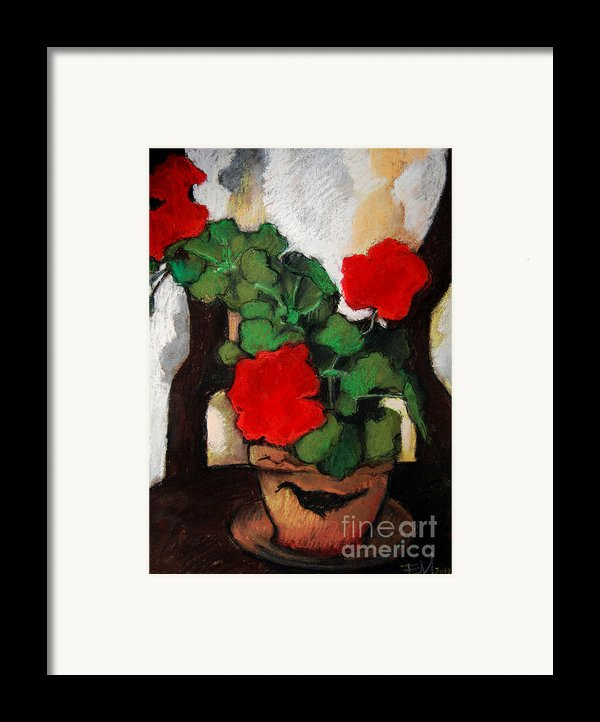 Red Geranium Framed Print By Mona Edulesco