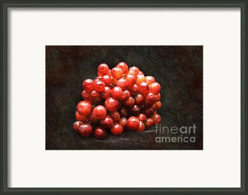 Red Grapes Framed Print By Andee Photography