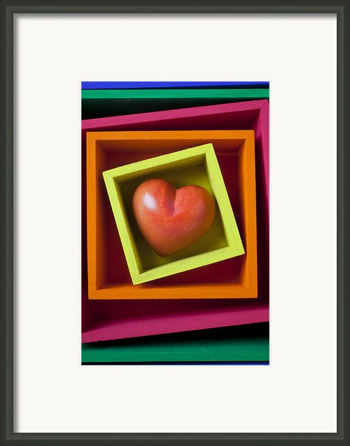 Red Heart In Box Framed Print By Garry Gay