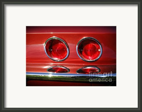 Red Hot Vette Framed Print By Luke Moore