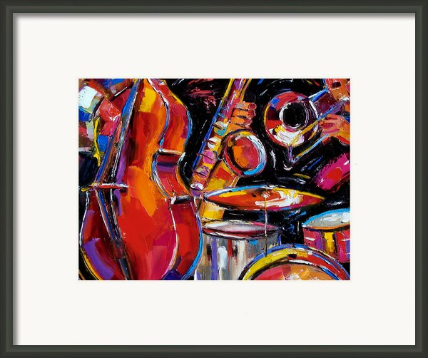 Red Jazz Framed Print By Debra Hurd