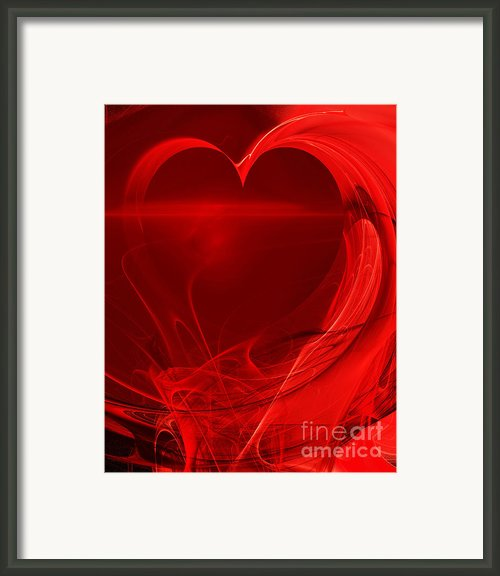 Red Love . A120423.279 Framed Print By Wingsdomain Art And Photography