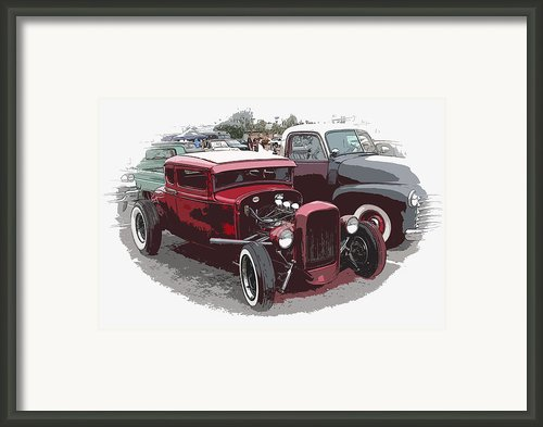 Red Model A Coupe Framed Print By Steve Mckinzie