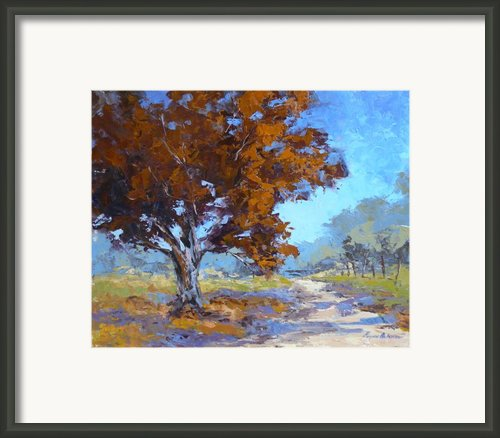 Red Oak Framed Print By Yvonne Ankerman