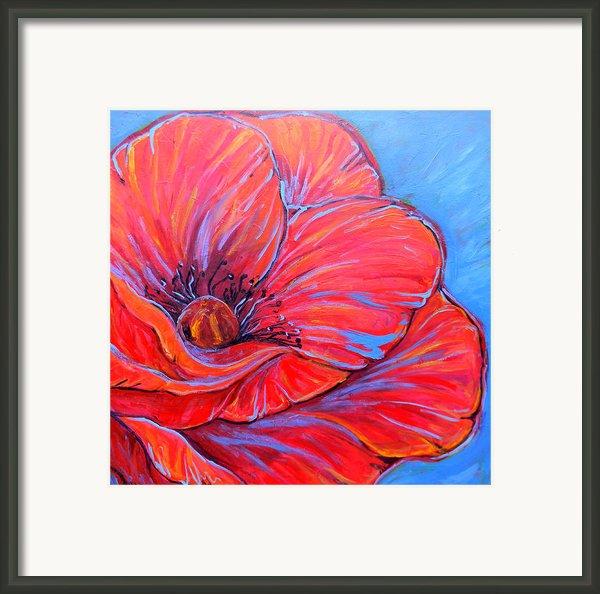 Red Poppy Framed Print By Jenn Cunningham
