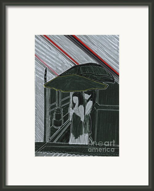 Red Rain Framed Print By First Star Art