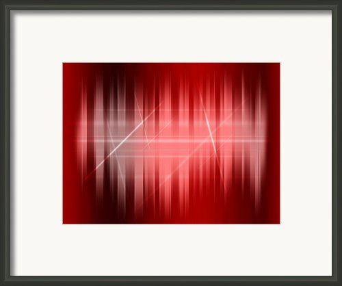 Red Rays Framed Print By Michael Tompsett