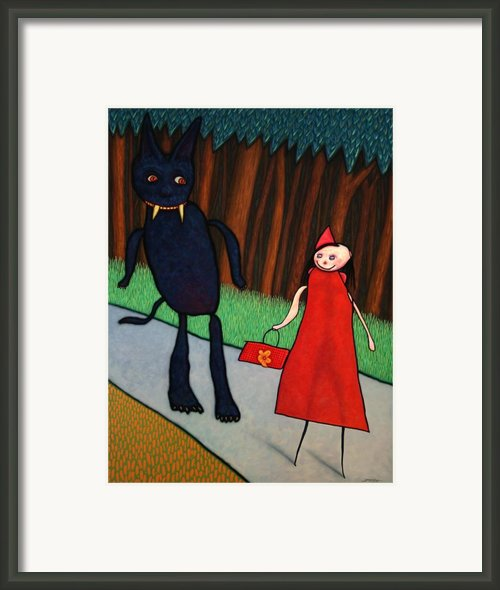 Red Ridinghood Framed Print By James W Johnson