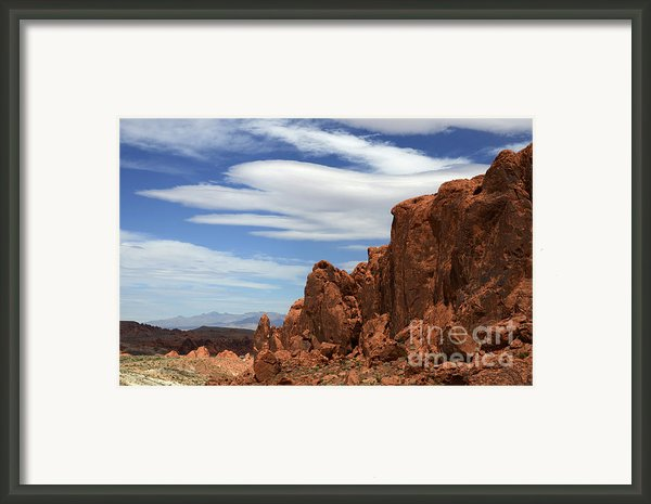 Red Rock Cliffs Framed Print By Bob Christopher