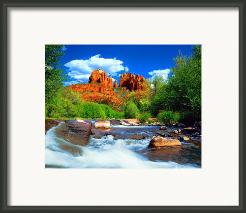 Red Rock Crossing Framed Print By Frank Houck