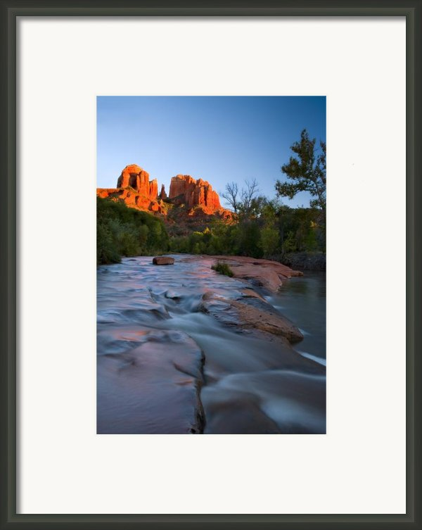Red Rock Sunset Framed Print By Mike  Dawson