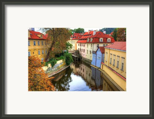 Red Roofs Of Prague Framed Print By Jay Lee
