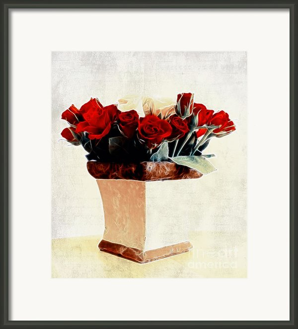 Red Roses Framed Print By Kristin Kreet