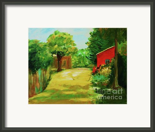 Red Shed Framed Print By Julie Lueders