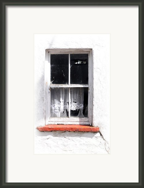 Red Sill Framed Print By Marion Galt