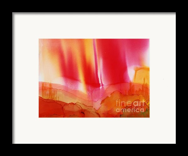 Red Sky Over Bryce Framed Print By Joyce Auteri